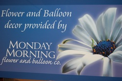 Flower and balloon decor at Monday Morning Flower and Balloon Company